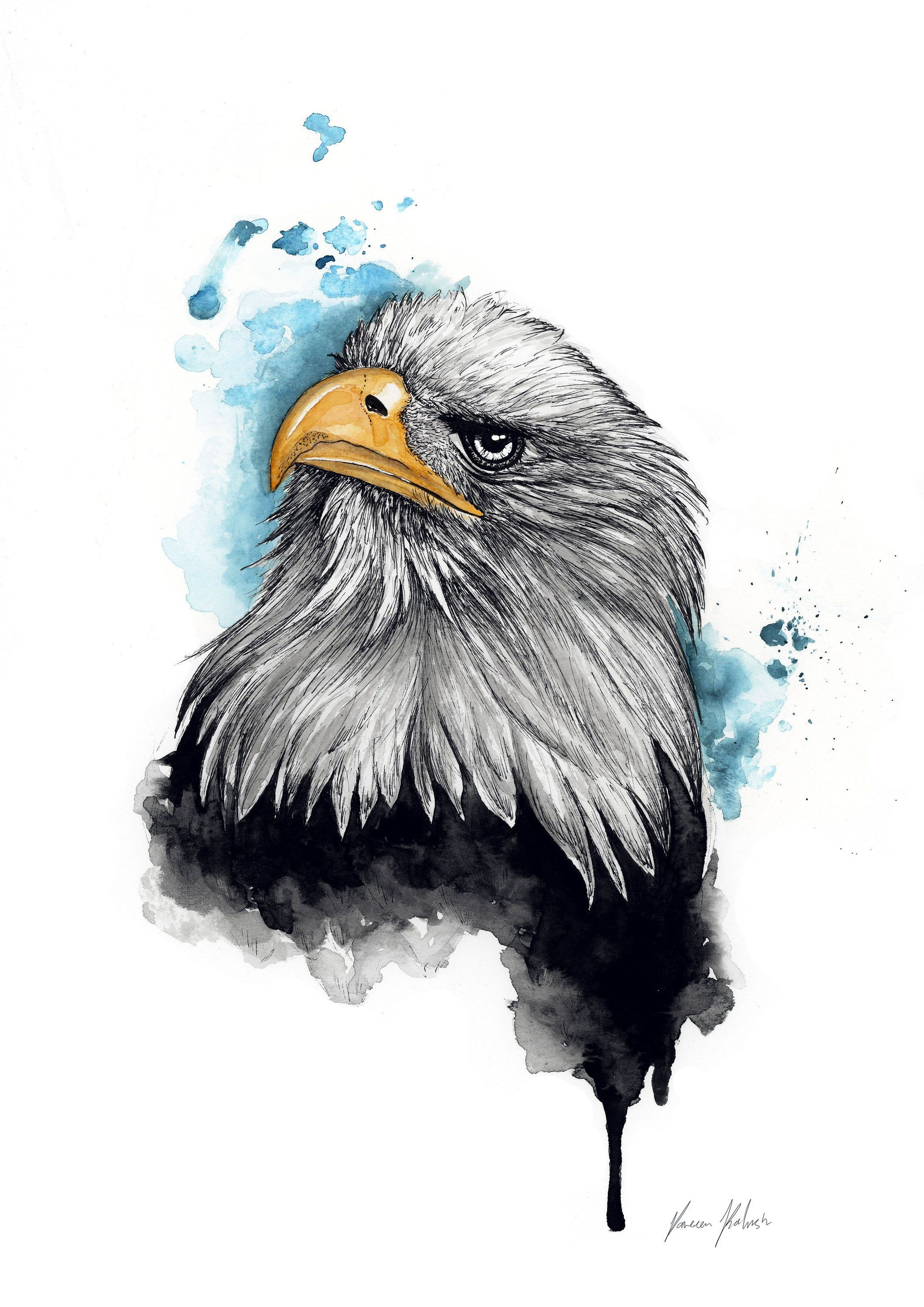 Unique Bald Eagle Wall Art For Home Decor Modern And Minimalist