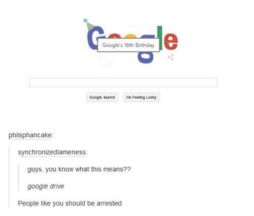 Tumblr Pun Google Drive