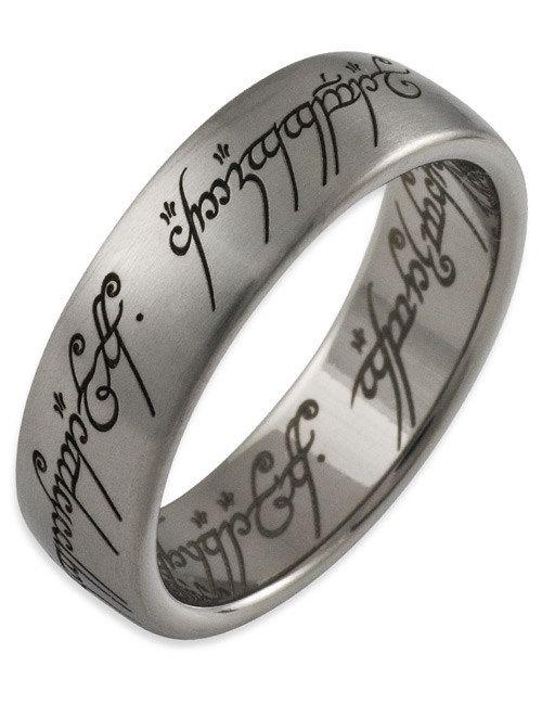 Partnerringe schwarz mit rubin  Herr der Ringe Ring Titan matt silber-schwarz. Aus der Kategorie ...