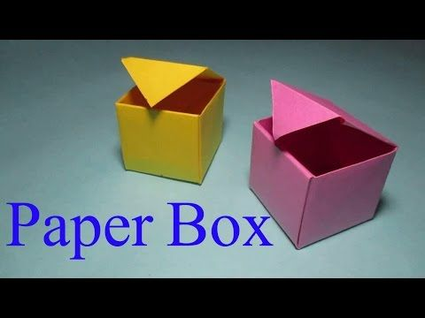 Origami Masu Box with Lid: Tutorial - YouTube | 360x480