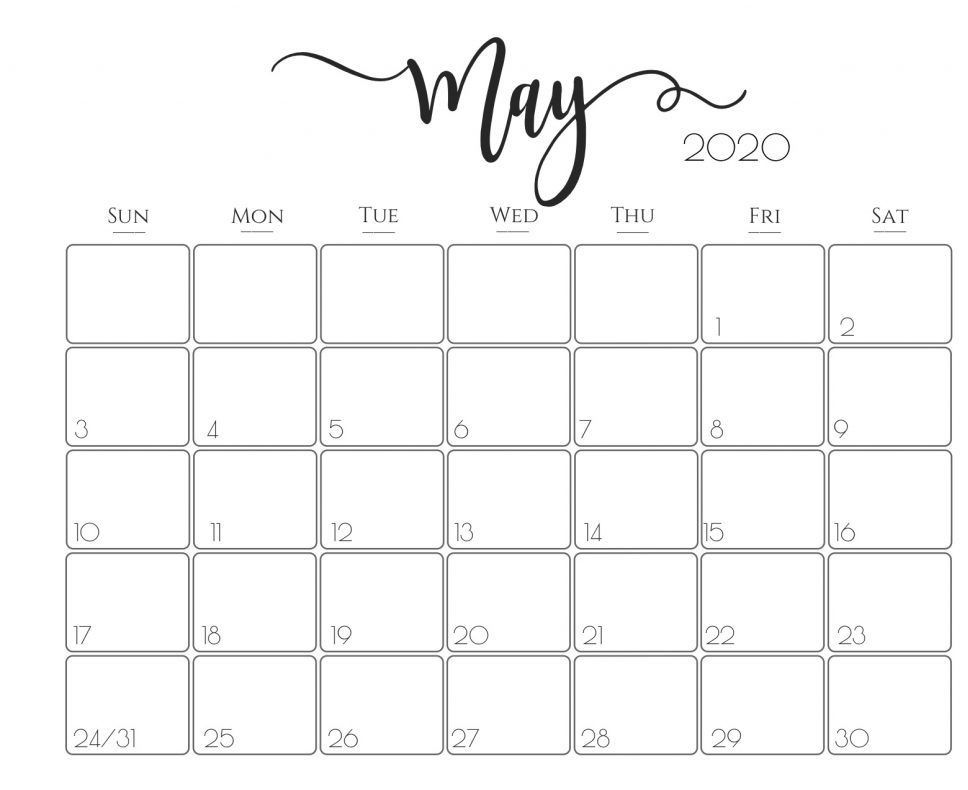May 2020 Calendar Pdf For School Free Printable Calendar