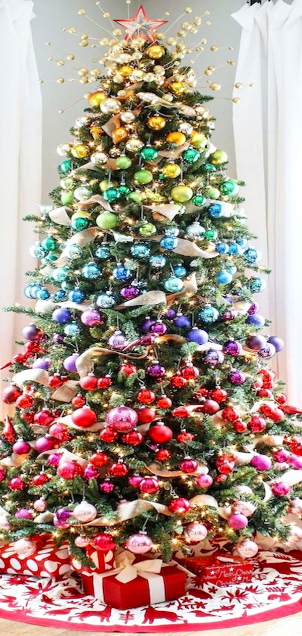 Christmas Trends 2020 Here S What S Hot This Holiday Season Colorful Christmas Tree Rainbow Christmas Tree Cool Christmas Trees