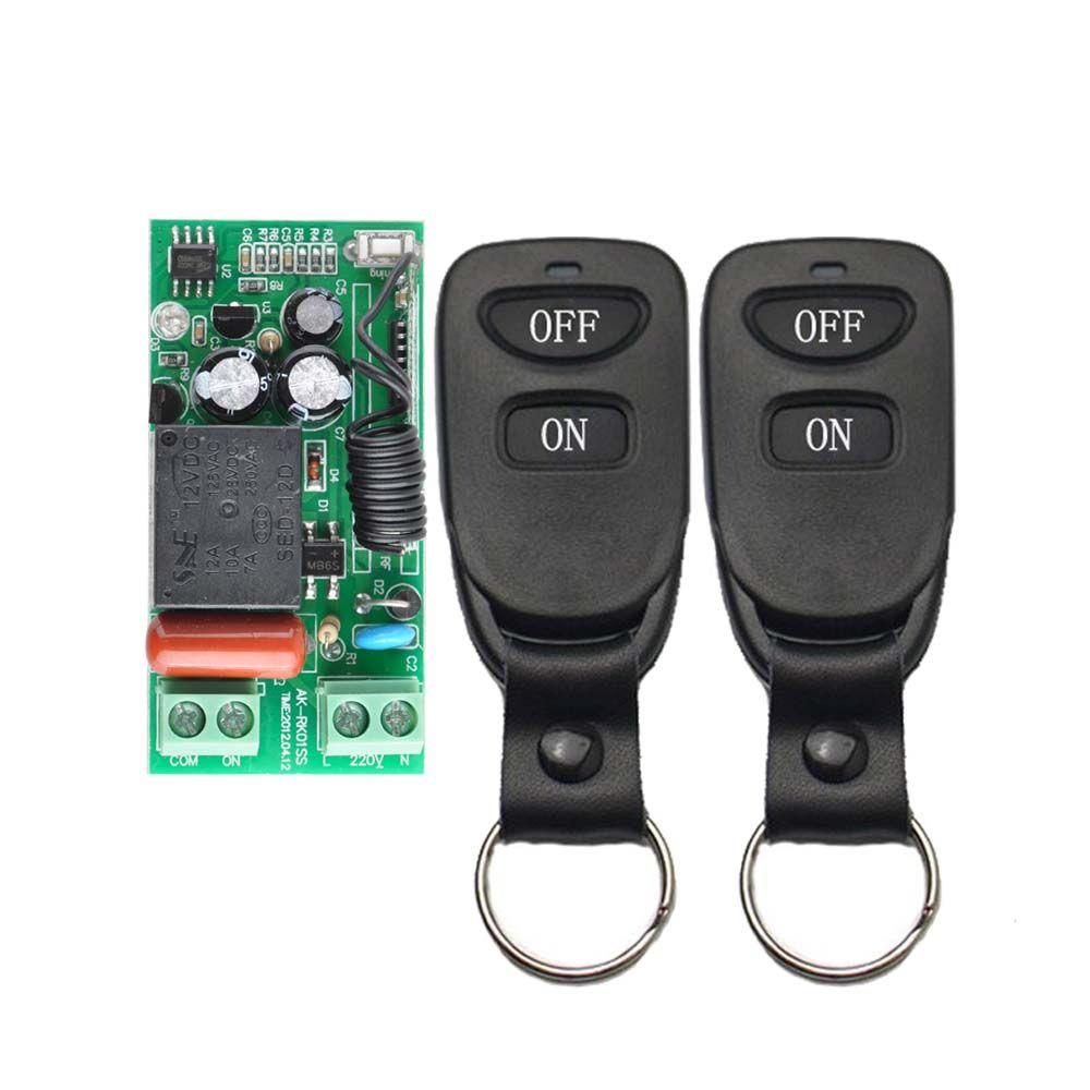 Wireless Remote Control Light Switch 10A Relay Output Radio 220V 1 ...