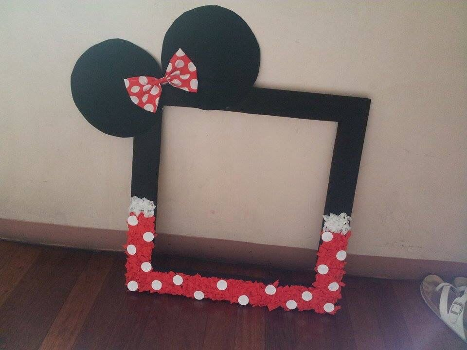 Homemade Minnie Mouse Frame Great For Photobooths And