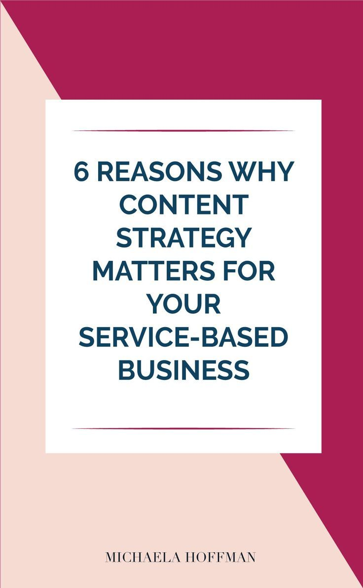 6 Reasons Why Content Strategy Matters to your Service