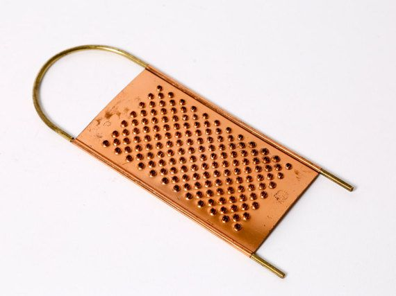 Vintage Cheese Grater Copper And Brass Vintage Copper Copper And Brass Copper