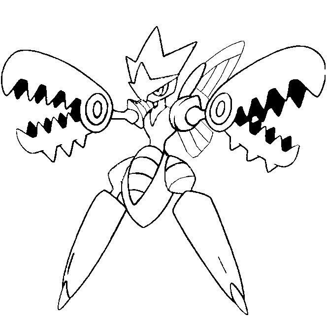 Coloring Page Mega Evolved Pokemon Scizor 212