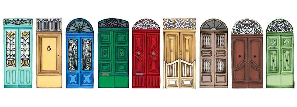 Series Of Ink Drawings Of Maltese Traditional Doors By Stephanie Borg Traditional Doors Fun Hobbies Drawings