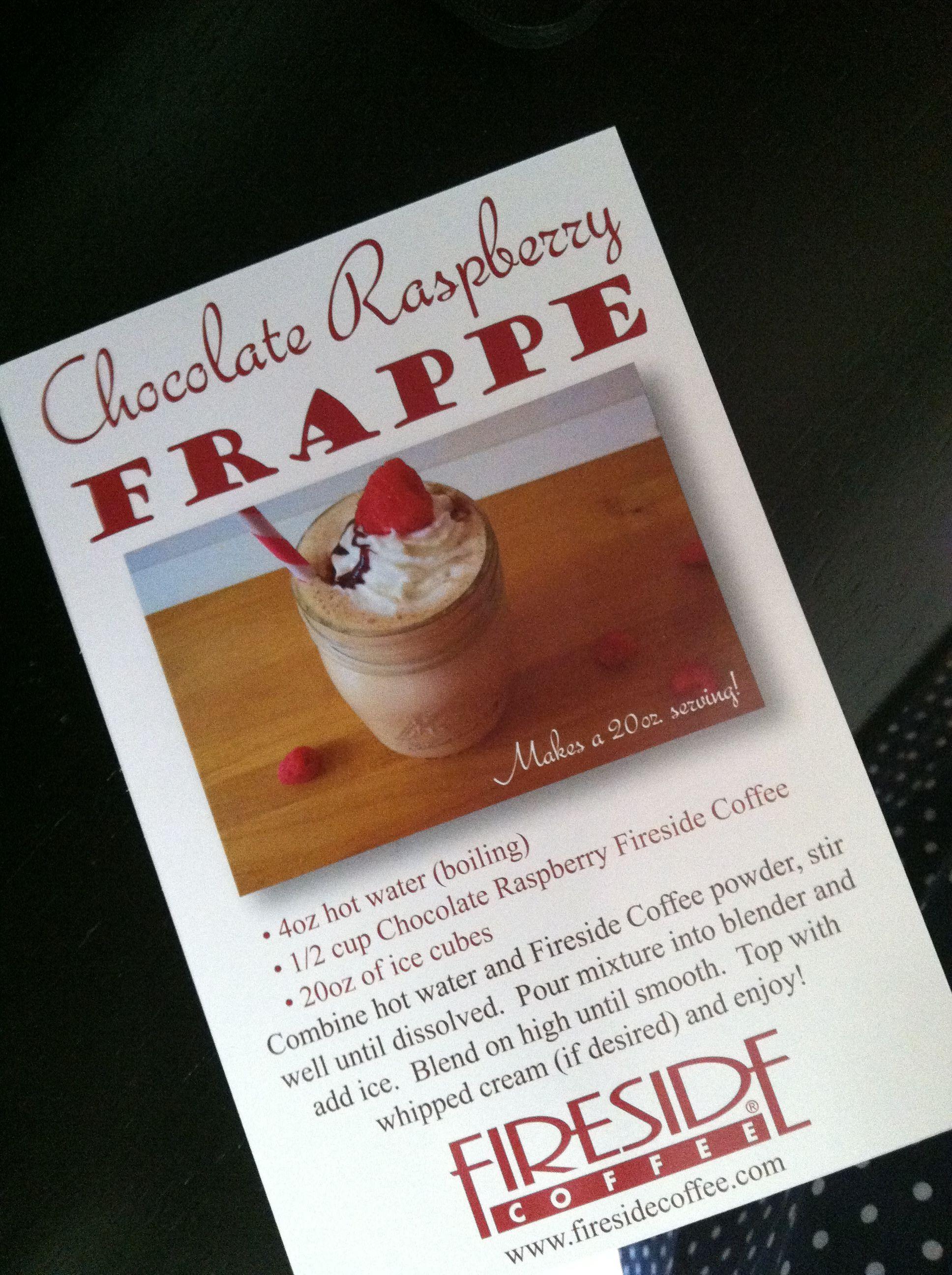 Chocolate Raspberry Frappe #coffee #recipes