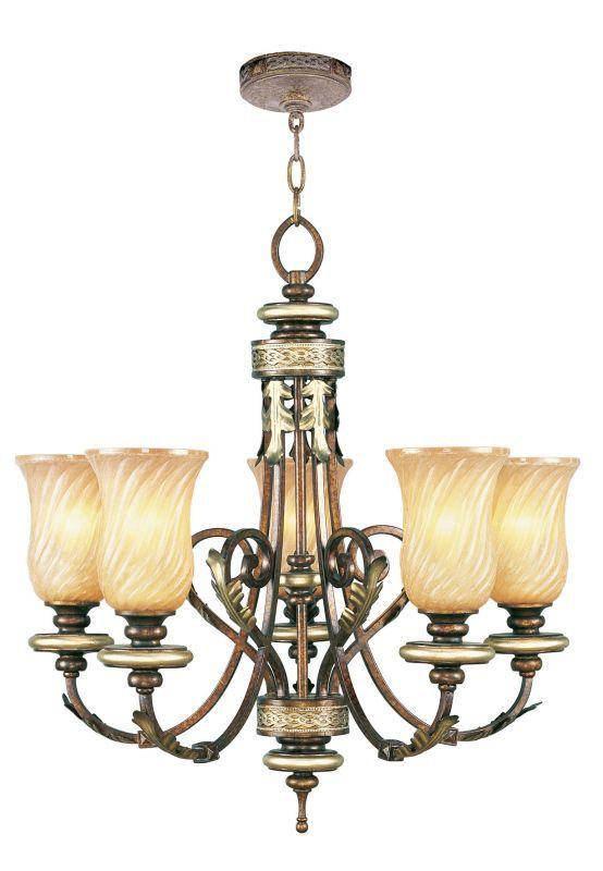 Livex Lighting 8835 Bristol Manor 5 Light 1 Tier Chandelier Palacial Bronze Indoor Lighting Chandeliers