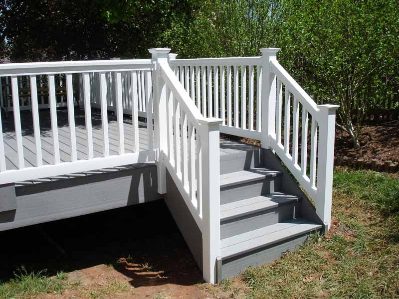 Pin By Aaa Remodeling On Decks And Patios Trex Stair Railing   Vinyl Railing For Steps   Plastic   Leadvision   Exterior   2 Step   Front Door