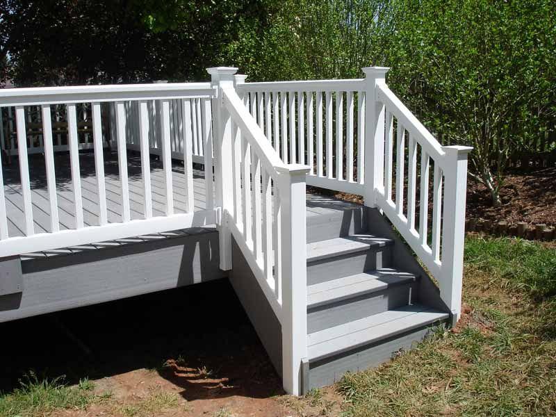 Azek Deck Stairs And Vinyl Railing