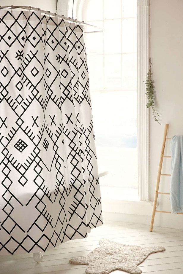 Fringe crochet and moroccan inspired patterns have taken over shower curtains to add bohemian style also trendy that will you wanting update your rh pinterest