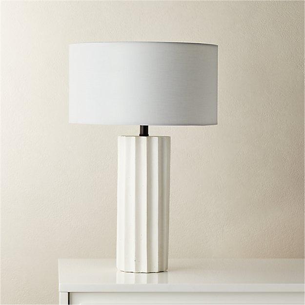 Scallop White Concrete Table Lamp Reviews Cb2 Concrete Table Lamp Table Lamp Modern Table Lamp