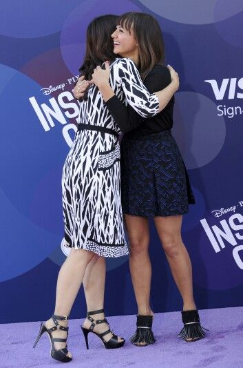 Ming-Na Wen and Rashida Jones attend the premiere of 'Inside Out' at the El Capitan Theatre on June 8, 2015 in Hollywood, California.