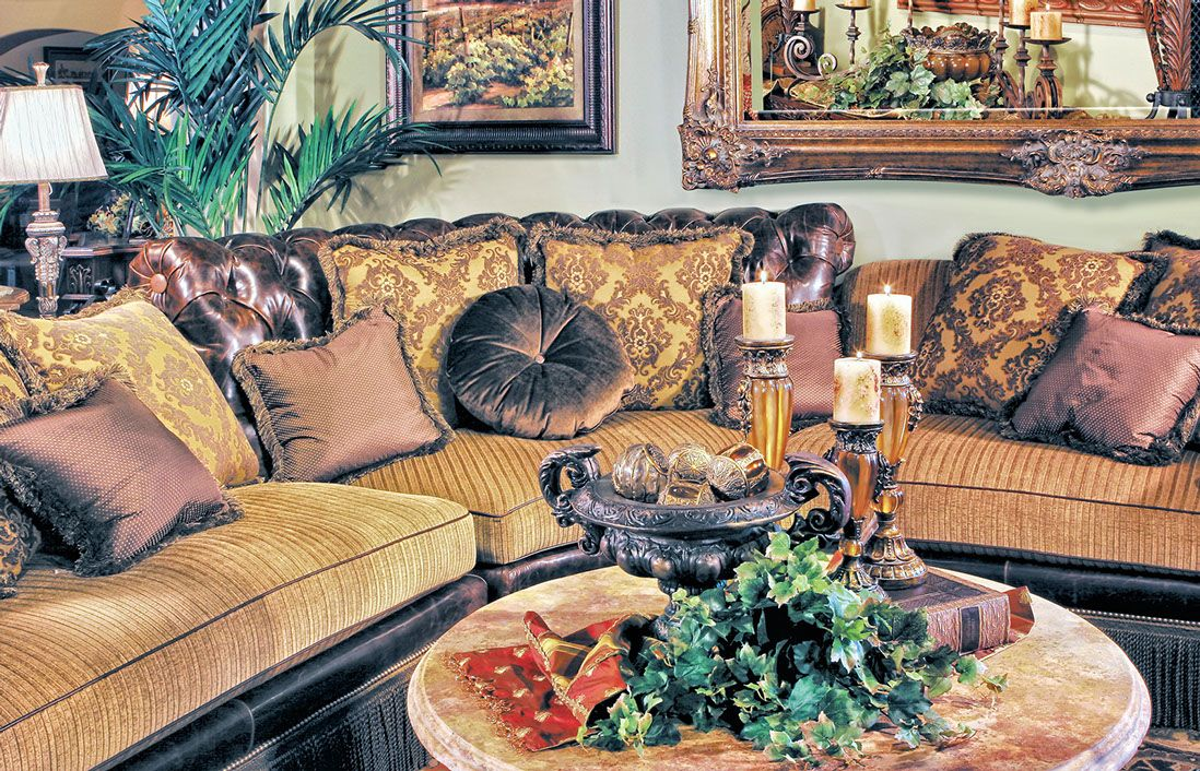 Old World Style Sofa Sectional U0026 Accessories