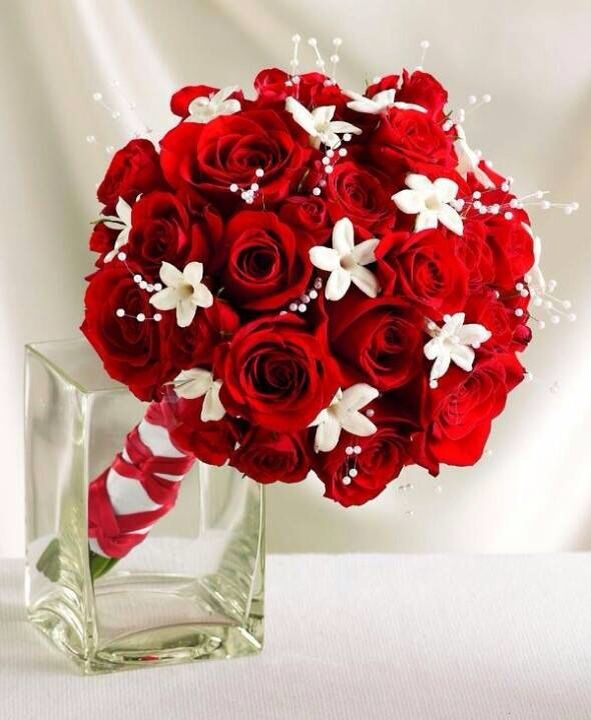 Bouquet Sposa Rosso.Bouquet In Rosso