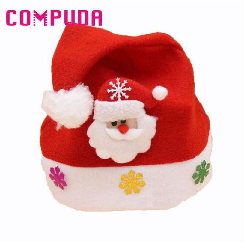 0f7b88b352395 Kids Gifts Santa Claus Holidays Christmas Hats Xmas 25.5cmX30cm u70727