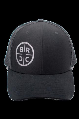 0d474a906d760 BRCC Trucker Hat - Black with Black mesh - Black Rifle Coffee Company - 3