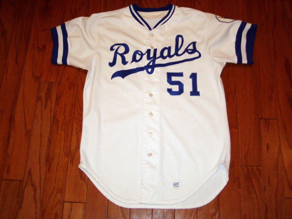the best attitude 622ca 050dc game used 1985 kansas city royals #vintage #baseball jersey ...
