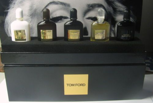 Tom Ford Perfume 5pc Mini Edt Edp Set Extreme White Patchouli Black