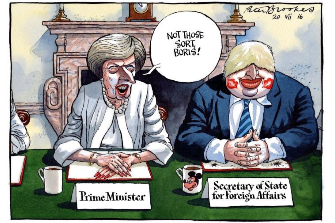 Politics · Peter Brookes @TheTimes. New Cabinet Gets Down To Business.  Boris Johnson And Theresa