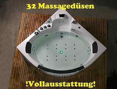 Whirlpool Eckbadewanne Badewanne Wanne für 2 Personen