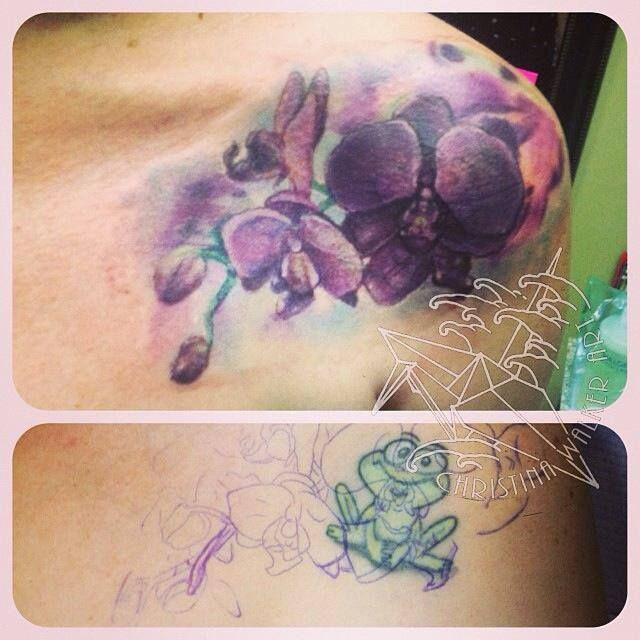 Watercolor Bamboo Tattoo: Watercolor (Cover Up) By Christina At Lucky Bamboo In