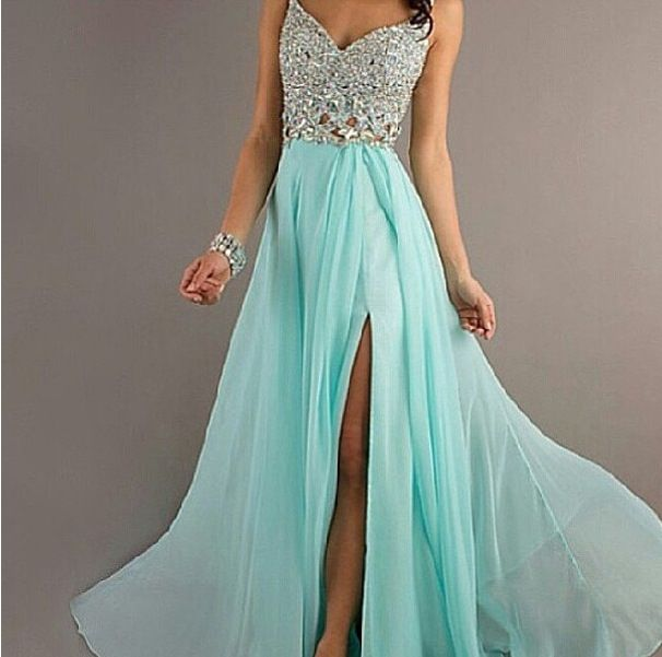 Seafoam Green Dress With Silver Jewels Fashion Dresses Formal