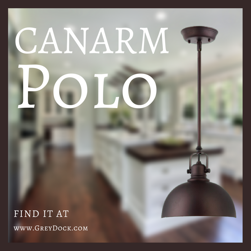 canarm polo 1 light mini pendant with oil rubbed bronze metal shade