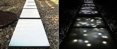 Senderos con LEDs para iluminar el exterior en eventos. | News BuscaClima