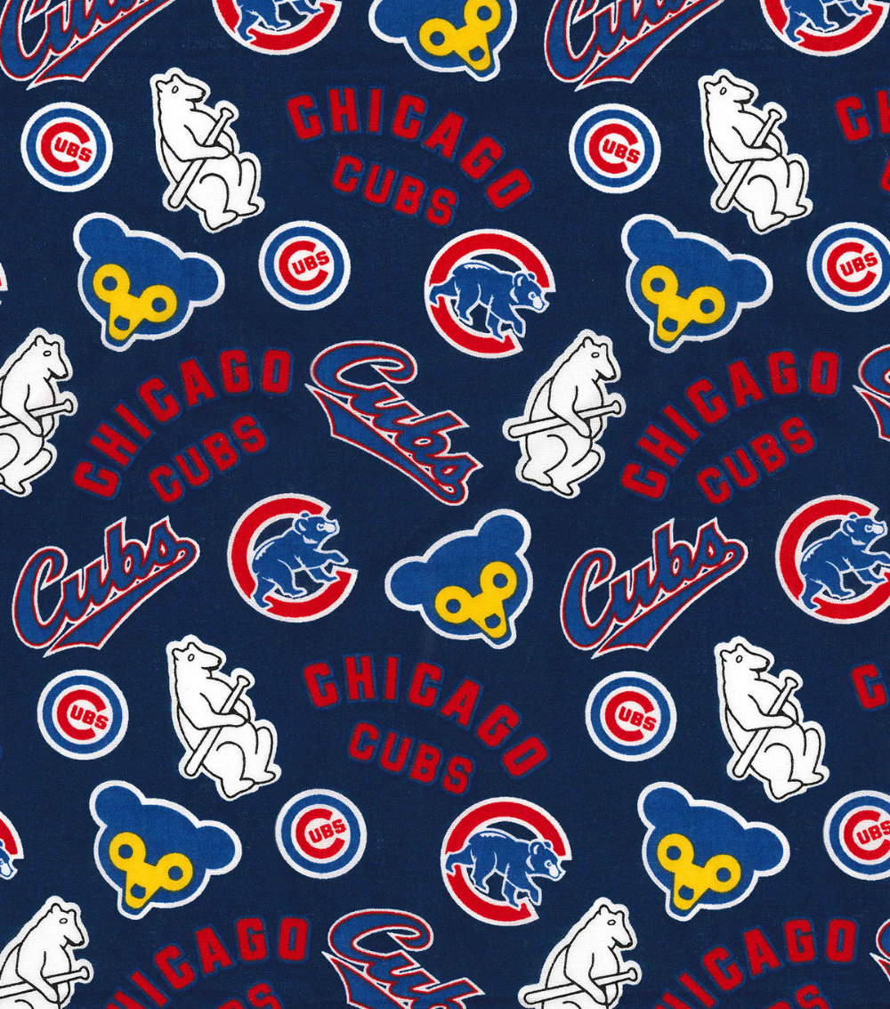 Cooperstown Chicago Cubs Cotton Fabric Joann Chicago Cubs Wallpaper Chicago Cubs Mlb Chicago Cubs