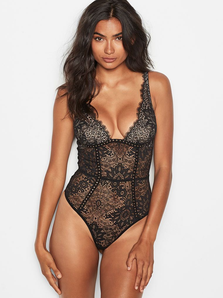fac7d23b5b Embellished Lace Plunge Teddy - Very Sexy - Victoria s Secret  68 ...