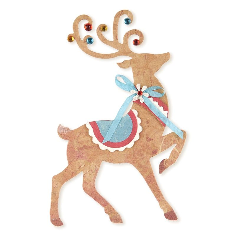 sizzix favorite things collection bigz xl die christmas reindeer make a classic elegant christmas card or layout using this sizzix reindeer bigz