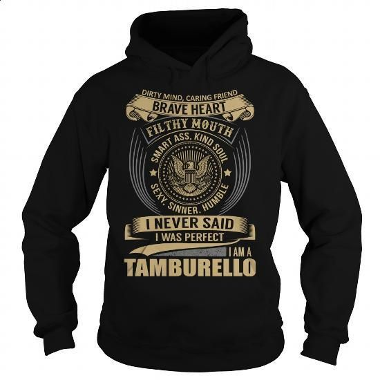 TAMBURELLO Last Name, Surname T-Shirt - #gift for women #funny shirt