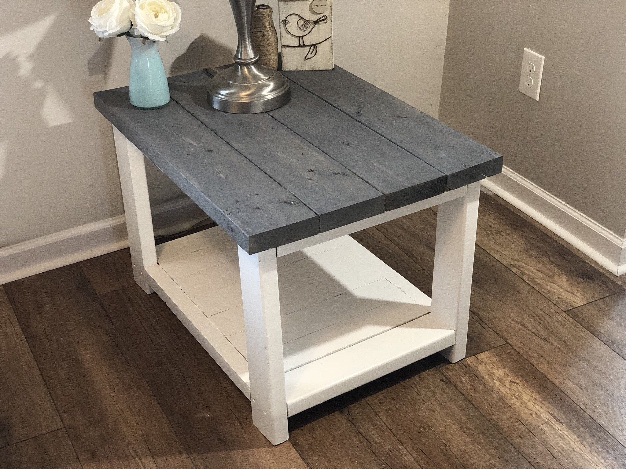 Farmhouse Coffee Table With Shelf Rustic Coffee Table Wood