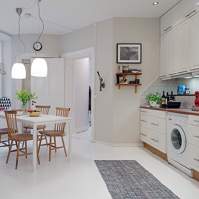 Glossy Green Cabinets Infuse Vitality To This Kitchen: Via Alvhem Mäkleri