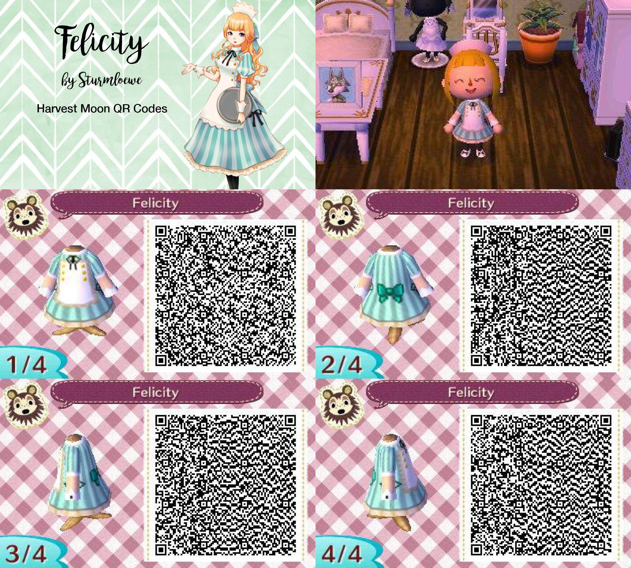 Harvest moon felicitys cute dress for animal crossing new for Modern house acnl