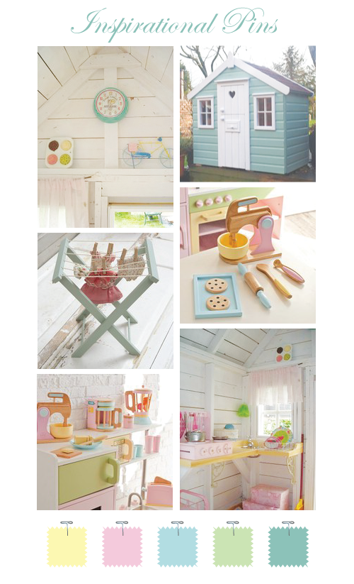 Playhouse Inspiration I Like The Kitchen Set Inside