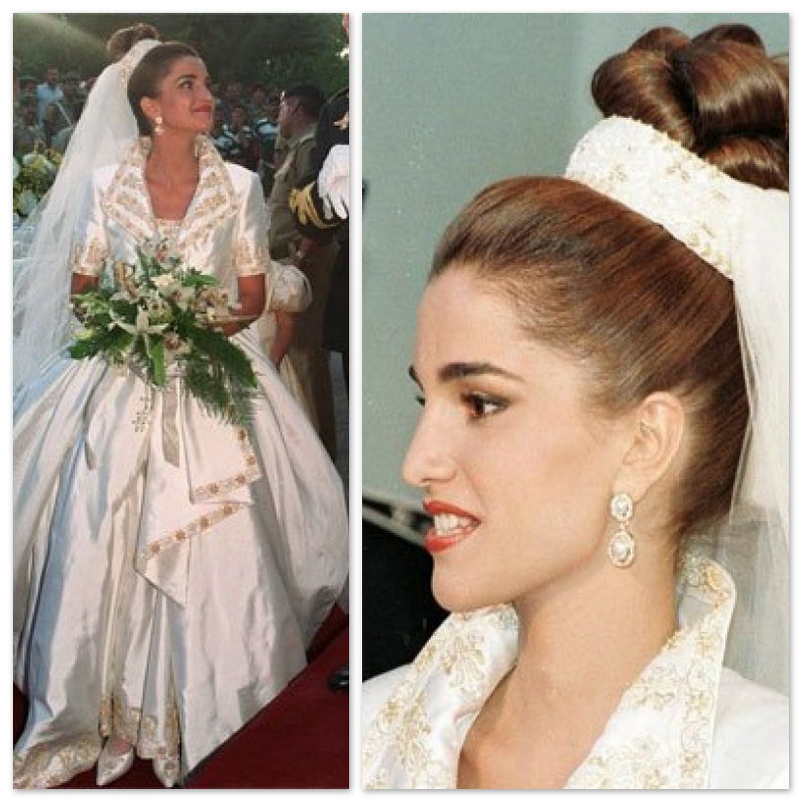 queen rania - Google-søgning | Royal wedding dresses | Pinterest ...
