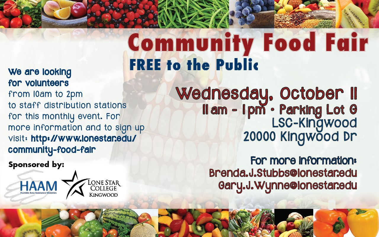 Community food fair at lsckingwood free to the public
