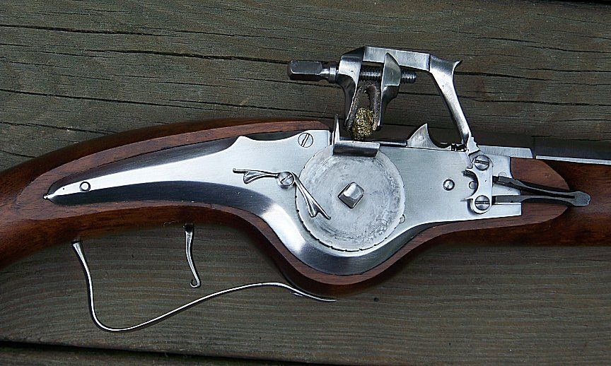 German Wheellock Pistol close-up of parts | Fighting implements of