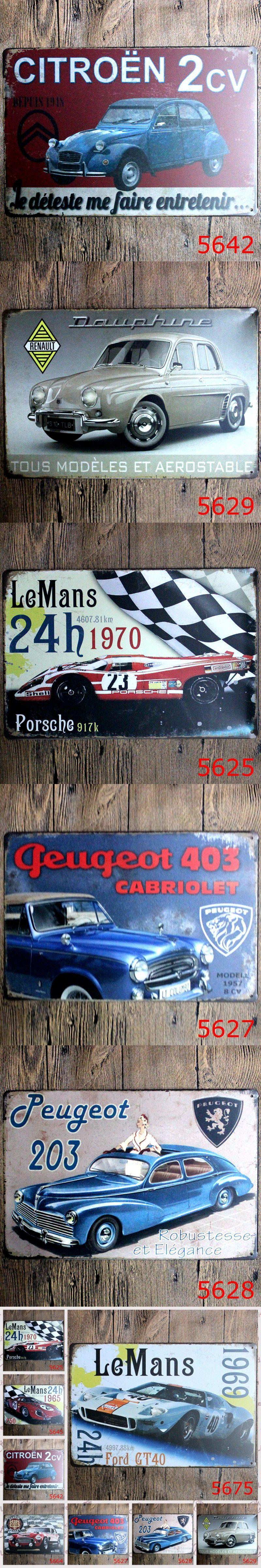 Pcslot car plate tin signs decorative metal plate garage
