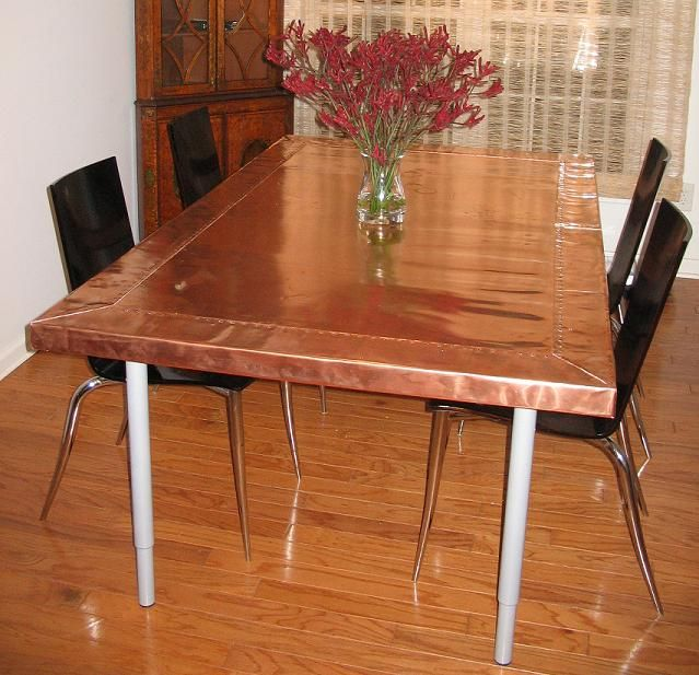Copper Dining Table Crawford Bray 10 Mil Copper Sheet Dining Table Copper Dining Table Copper Table