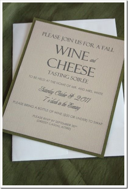 Fall Wine and Cheese Tasting Party – Wine Tasting Party Invitation Wording