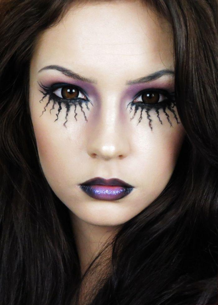 Halloween Idee.Maquillage Halloween Femme Pour Les Yeux Halloween Idee
