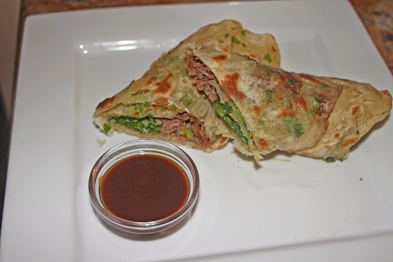 The Grub Files: Cooking with Camissonia: Chinese Beef Rolls (Beef Wrapped in Scallion Pancakes) (Niu Rou Jian Bing)