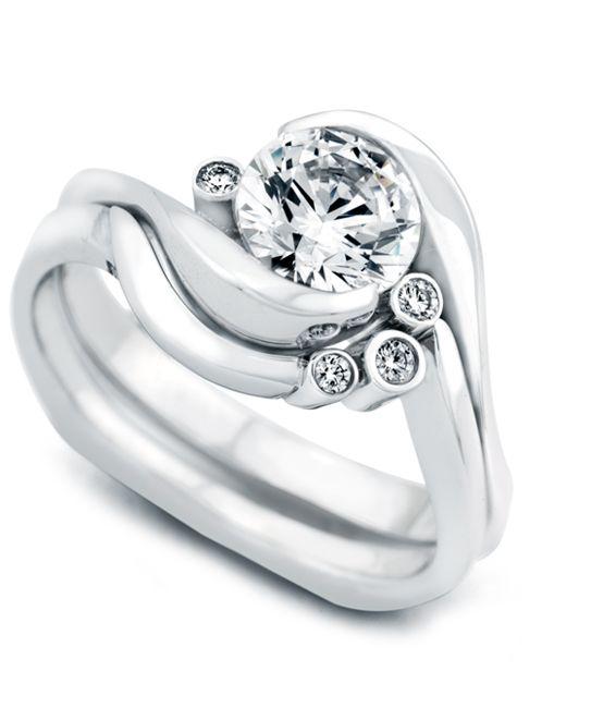 Spark Engagement Ring with Wedding Band - Mark Schneider Design