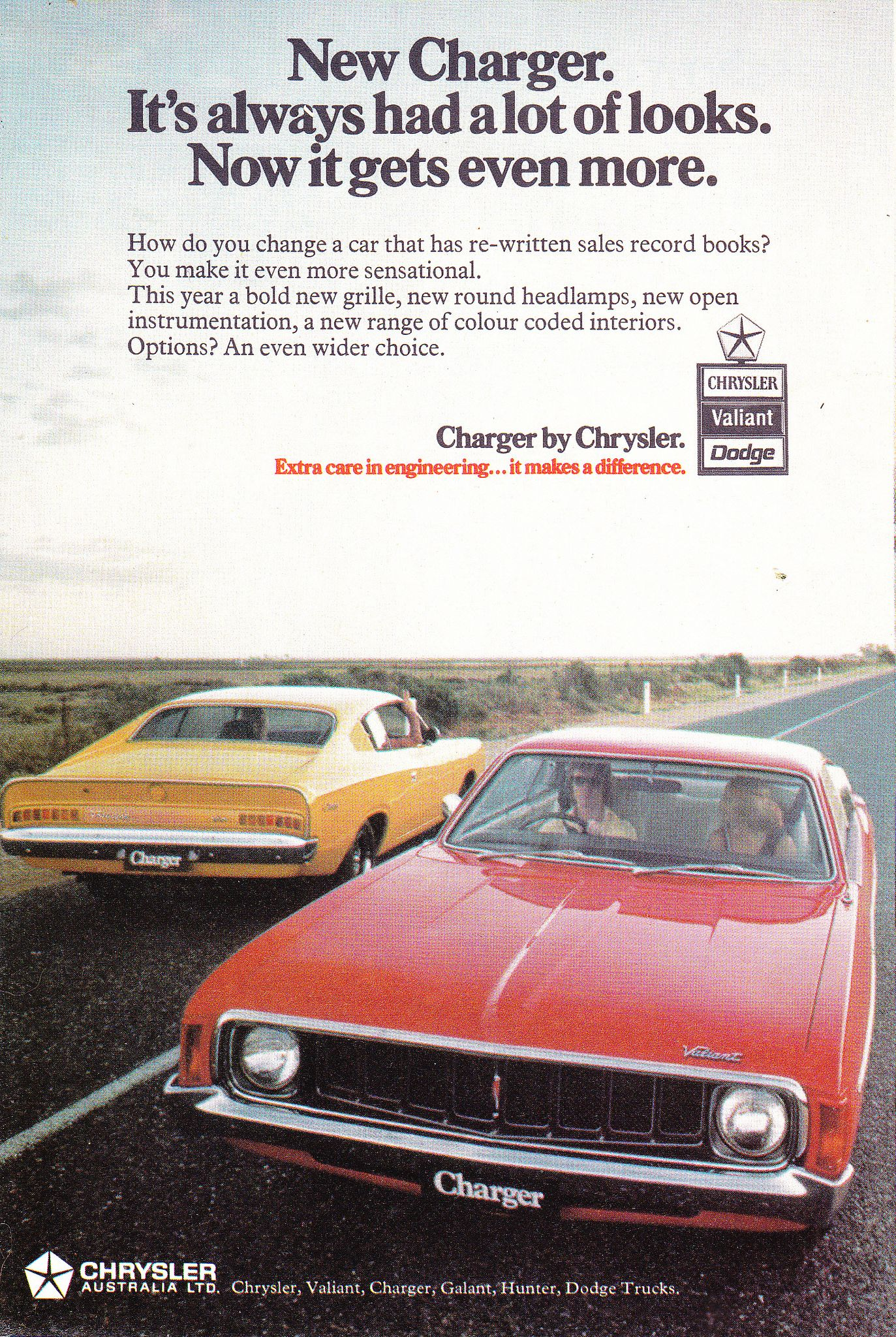 1973 VJ Chrysler Valiant Charger Aussie Original Magazine ...