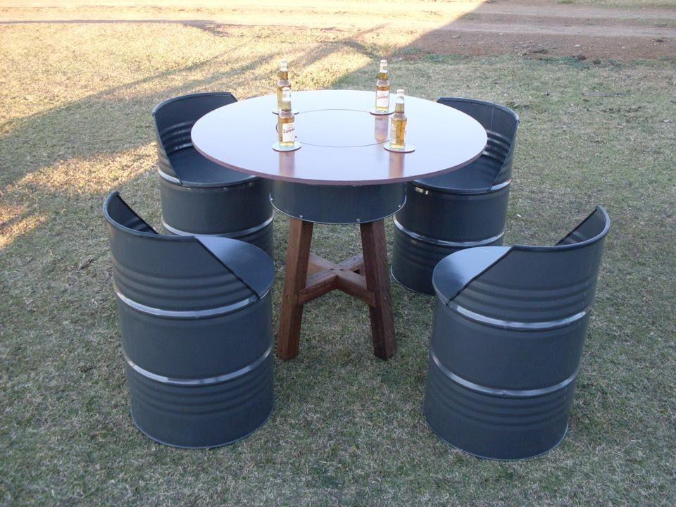 Oil Drum Furniture Pinteres